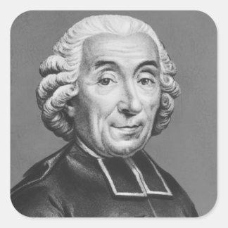 Portrait of Gabriel Bonnot de Mably Square Sticker