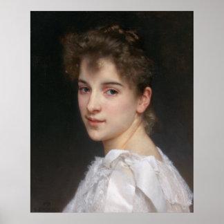 Portrait of Gabrielle Cot by Bouguereau, Medium Poster