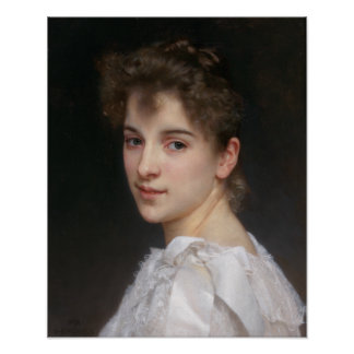 Portrait of Gabrielle Cot by Bouguereau Poster