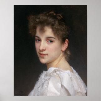 Portrait of Gabrielle Cot by Bouguereau Poster