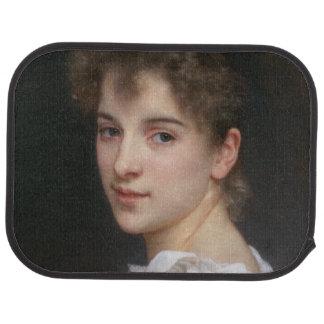 Portrait of Gabrielle Cot by William Bouguereau Car Mat