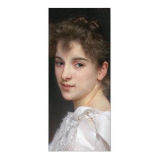 Portrait of Gabrielle Cot by William Bouguereau Invitation Cards