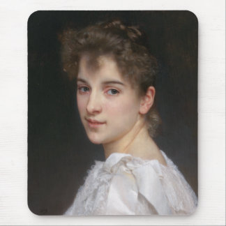 Portrait of Gabrielle Cot by William Bouguereau Mouse Pad