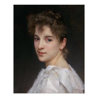 Portrait of Gabrielle Cot by William Bouguereau Poster