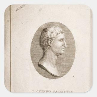 Portrait of Gaius Crispus Sallust Square Sticker