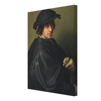 Portrait of Galeazzo Campi (1475-1536) the Artist' Canvas Print