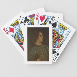 Portrait of Galeazzo Mario Sforza (1444-76) c.1471 Bicycle Playing Cards