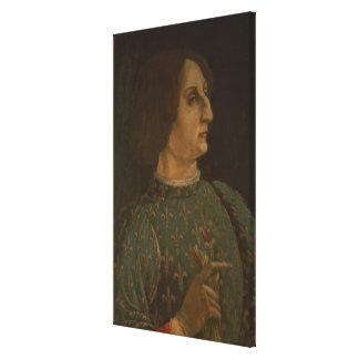 Portrait of Galeazzo Mario Sforza (1444-76) c.1471 Canvas Print