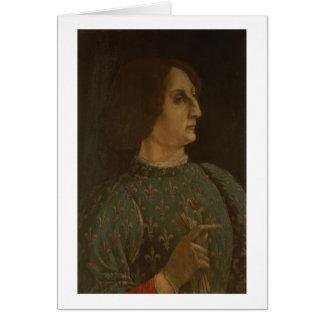 Portrait of Galeazzo Mario Sforza (1444-76) c.1471 Card