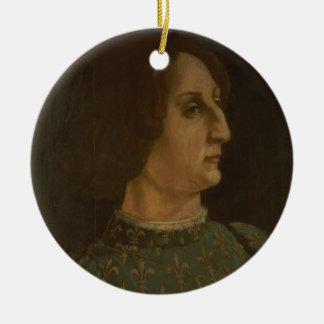 Portrait of Galeazzo Mario Sforza (1444-76) c.1471 Ceramic Ornament