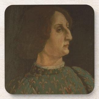 Portrait of Galeazzo Mario Sforza (1444-76) c.1471 Coaster
