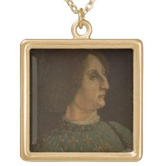 Portrait of Galeazzo Mario Sforza (1444-76) c.1471 Gold Plated Necklace