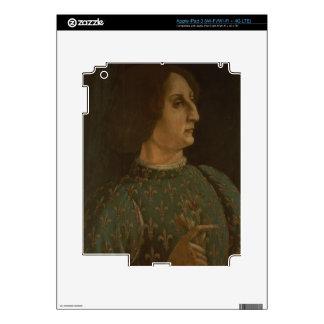 Portrait of Galeazzo Mario Sforza (1444-76) c.1471 iPad 3 Decals
