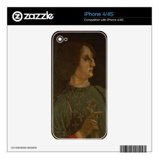 Portrait of Galeazzo Mario Sforza (1444-76) c.1471 iPhone 4 Decal
