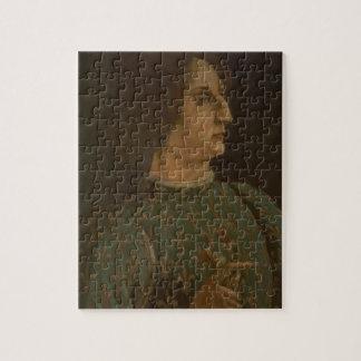 Portrait of Galeazzo Mario Sforza (1444-76) c.1471 Jigsaw Puzzle