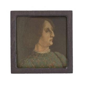 Portrait of Galeazzo Mario Sforza (1444-76) c.1471 Keepsake Box