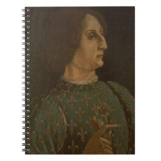 Portrait of Galeazzo Mario Sforza (1444-76) c.1471 Notebook
