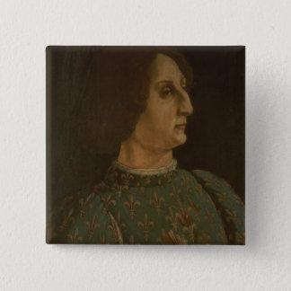 Portrait of Galeazzo Mario Sforza (1444-76) c.1471 Pinback Button