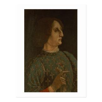 Portrait of Galeazzo Mario Sforza (1444-76) c.1471 Postcard