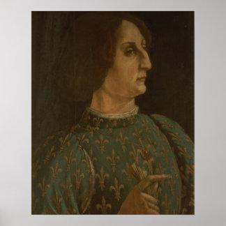 Portrait of Galeazzo Mario Sforza (1444-76) c.1471 Poster