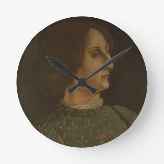 Portrait of Galeazzo Mario Sforza (1444-76) c.1471 Round Clock