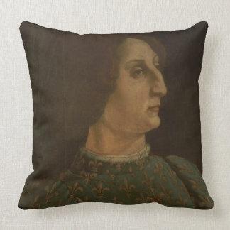 Portrait of Galeazzo Mario Sforza (1444-76) c.1471 Throw Pillow