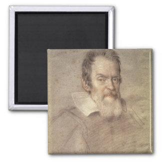 Portrait of Galileo Galilei  Astronomer 2 Inch Square Magnet