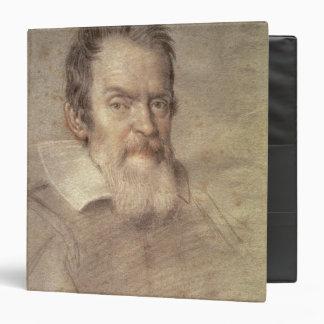 Portrait of Galileo Galilei  Astronomer 3 Ring Binders