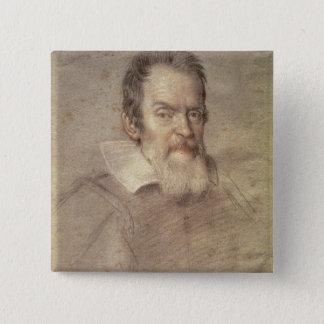 Portrait of Galileo Galilei  Astronomer Button