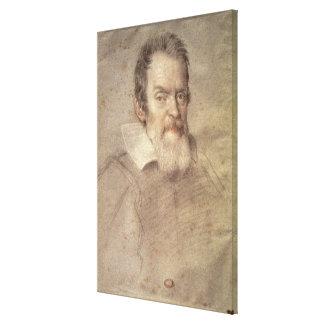 Portrait of Galileo Galilei  Astronomer Canvas Print
