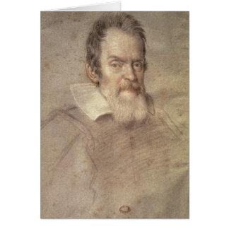 Portrait of Galileo Galilei  Astronomer Card