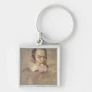 Portrait of Galileo Galilei  Astronomer Key Chains