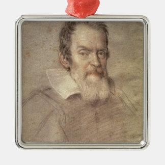 Portrait of Galileo Galilei  Astronomer Metal Ornament