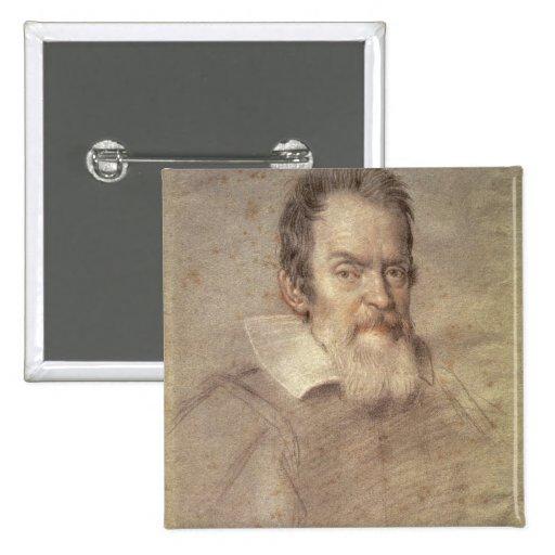 Portrait of Galileo Galilei  Astronomer Pin