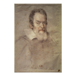 Portrait of Galileo Galilei  Astronomer Poster