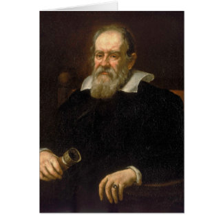 Portrait of Galileo Galilei by Justus Sustermans Card