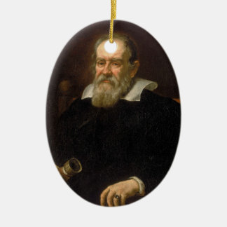 Portrait of Galileo Galilei by Justus Sustermans Ceramic Ornament