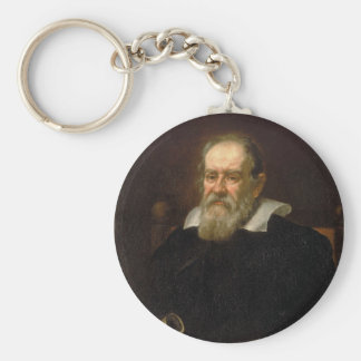 Portrait of Galileo Galilei by Justus Sustermans Keychain