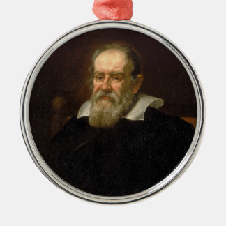 Portrait of Galileo Galilei by Justus Sustermans Metal Ornament