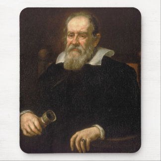 Portrait of Galileo Galilei by Justus Sustermans Mouse Pad