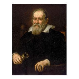 Portrait of Galileo Galilei by Justus Sustermans Postcard