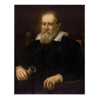 Portrait of Galileo Galilei by Justus Sustermans Poster