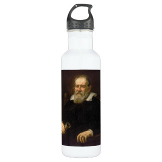 Portrait of Galileo Galilei by Justus Sustermans Stainless Steel Water Bottle