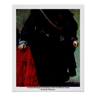 Portrait Of Gaspar De Guzmán, Conde De Olivares Print