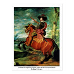 Portrait Of Gaspar De Guzmán, Duke Of Olivares Post Card