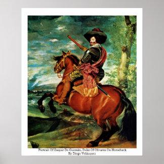 Portrait Of Gaspar De Guzmán, Duke Of Olivares Poster