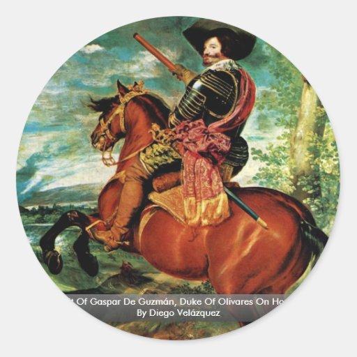 Portrait Of Gaspar De Guzmán, Duke Of Olivares Stickers