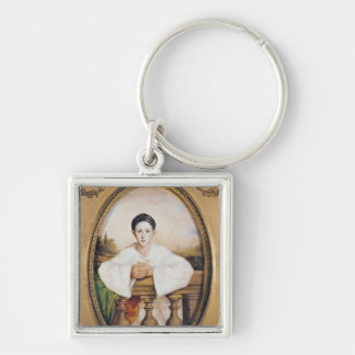 Portrait of Gaspard Deburau  as Pierrot, c.1815 Keychain