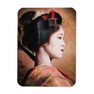 Portrait of Geisha oriental japanese magnet
