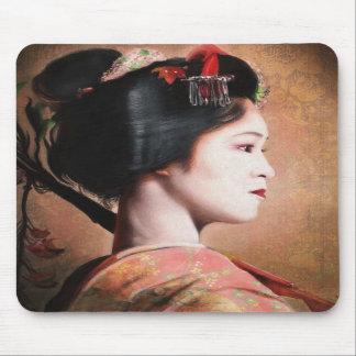 Portrait of Geisha oriental japanese mousepad